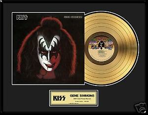 KISS Gene Simmons Solo Gold Record LP Family Jewels