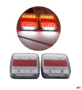 Other 2 x 12V 14 LED REAR TAIL LIGHTS LAMPS 5 FUNCTION TRAILER TRUCK TIPPER VAN E-MARK