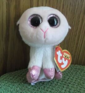 Ty-Beanie-Boo-039-s-Plush-Easter-White-Lamb-Twinkle-Collectible-2016-Key-Clip-NWT