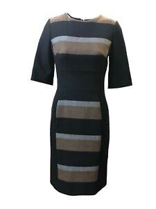 W3.2 Ex Hobbs Pure Wool Cinthia Checked Dress Size 8-16