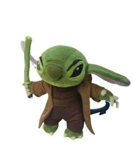 Disney-Parks-Disneyland-Paris-Lilo-Stitch-Master-Yoda-Star-Wars-Plush-Toy