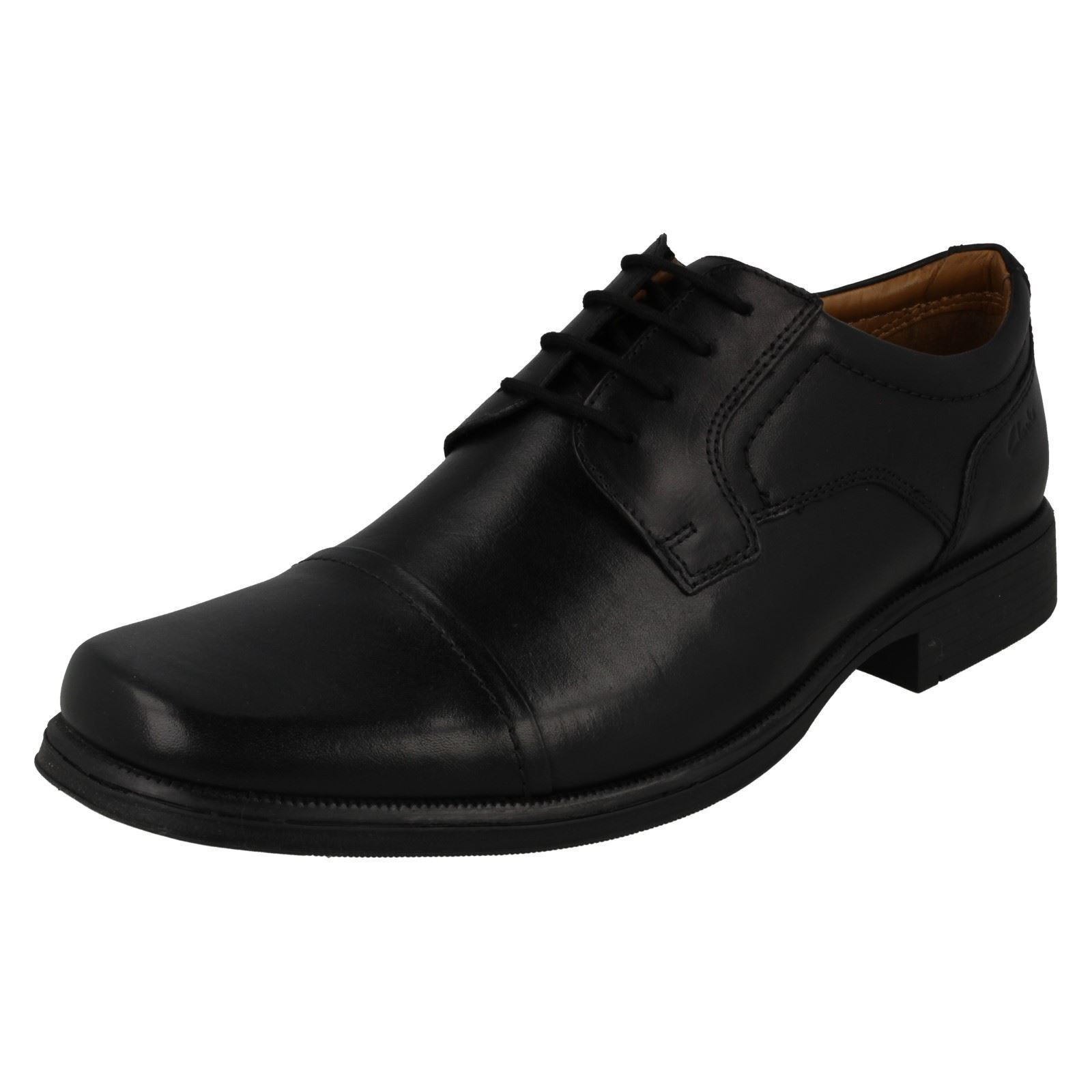 Mens Clarks Formal Lace Up Shoes *Huckley Cap*