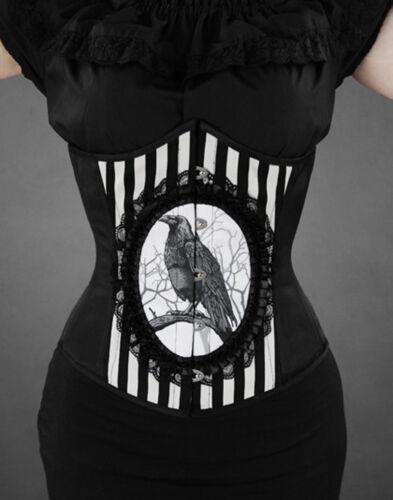 Cr4 Corset Streifen Neu Steelboned Lolita Gothic Odin Restyle Rabe Raven Korsett gqYpwSAxv
