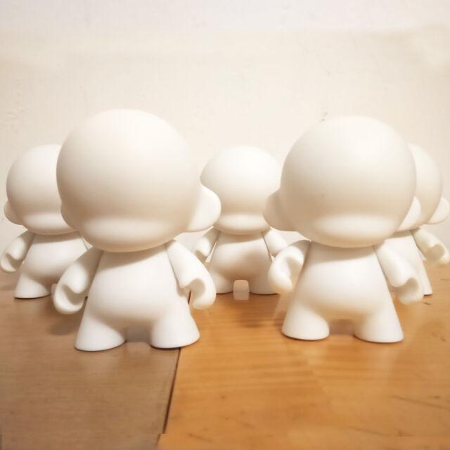 "5Pcs 4/"" Kidrobot Munny Rabbit Doll Model Never Painted White Vinyl Toy DIY"