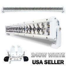 """240W 42"""" White LED Light Bar Spot Beam Flood Light Adjustable (USA SELLER)"""