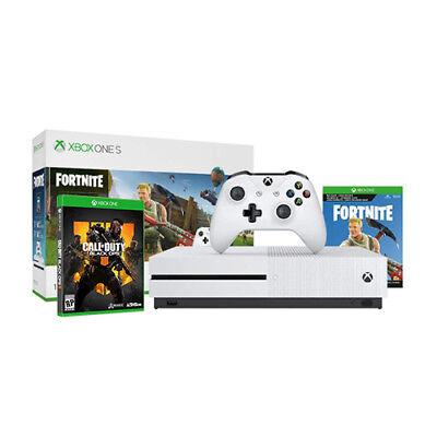 Xbox One S 1TB Fortnite Bundle + Call of Duty: Black Ops 4