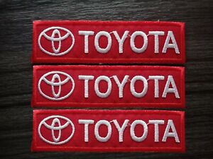 3-pcs-TOYOTA-MOTOR-Racing-Car-Patch-Embroidered-Iron-or-Sew-on-Coat-Jacket-bag