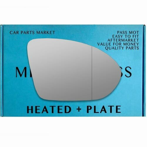 Right side Wide Angle wing mirror glass for Vauxhall Astra K 15-17 heated plate