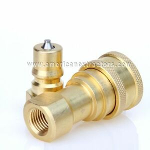 """Carpet Cleaning Quick Disconnects 1//8/"""" for wands truckmount QD coupler brass"""