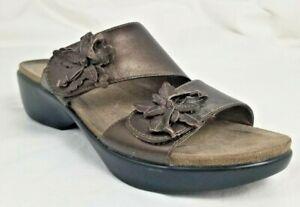 EUC-Dansko-Womens-Shoe-37-6-5-7-Donna-Leather-Slip-On-Adjustable-Sandal-Brown