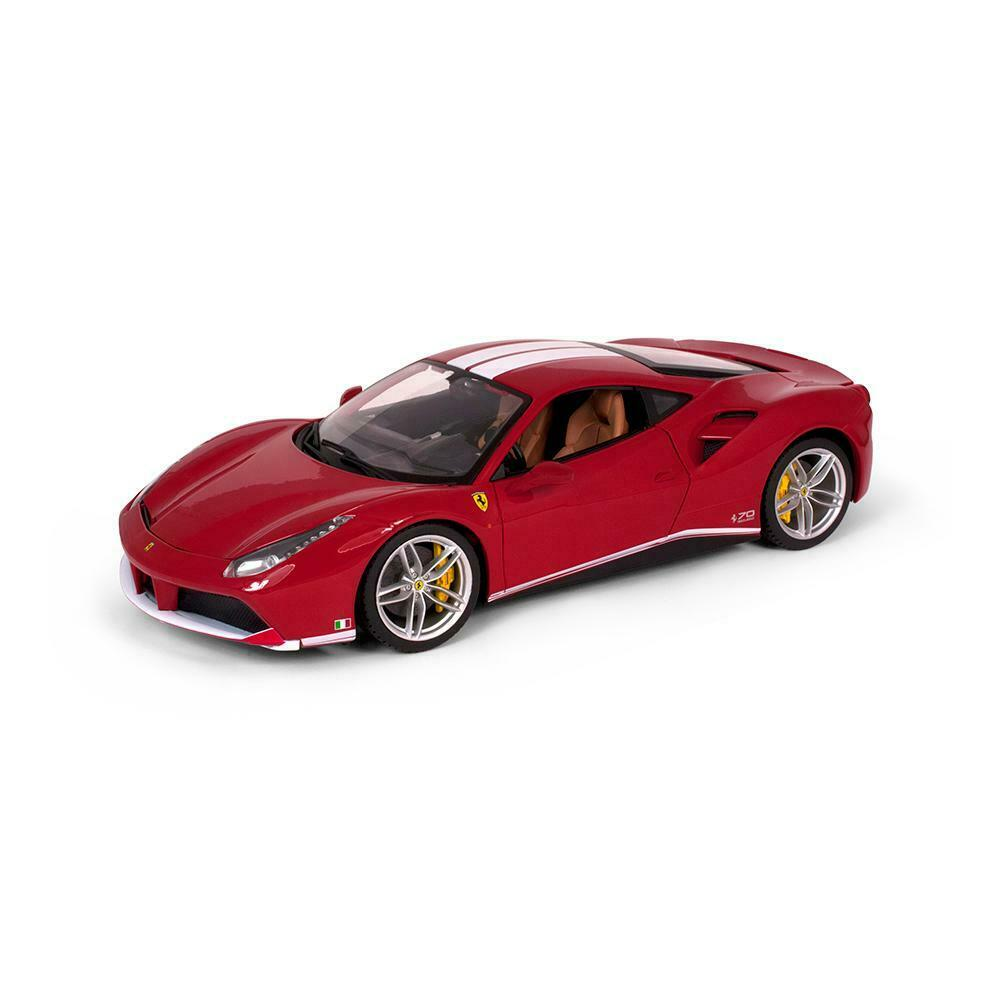 Burago 1 18 Ferrari 488 GTB 70th Anniversary - rotuced