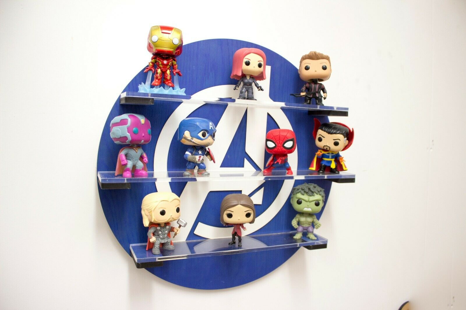 Avengers Pop vinyl display Shelf Blau