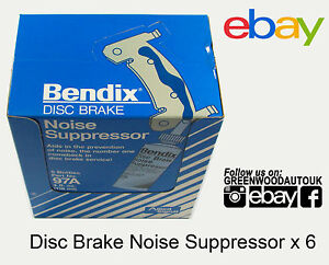 Bendix-Disc-Brake-Pad-Paste-Anti-Squeal-Noise-Supressor-Grease-New-X-6