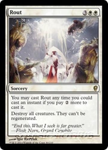 ROUT Conspiracy MTG White Sorcery Rare