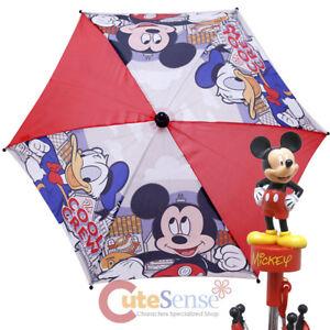 b6609a9ba0be4 Disney Mickey Mouse Friends Kids Umbrella 3D Figure Handle Donald ...