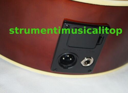"Chitarra Acustica Elettrificata 41/"" Sunburst 4B+tuner integrato Top Quality"