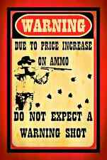 *NO WARNING SHOT* ALL WEATHER METAL SIGN 8X12 KEEP OUT CAUTION NO TRESPASSING