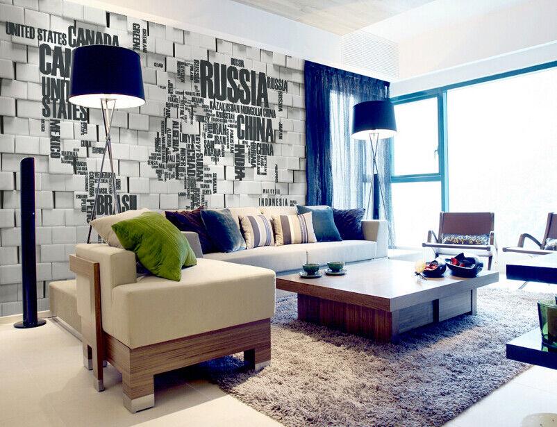 3D Kreative Weltkarte 85 Tapete Wandgemälde Tapete Tapeten Bild Familie DE