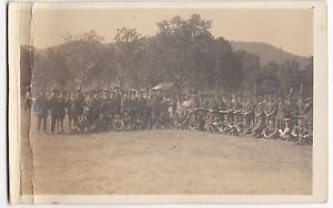 Unidentified-WW1-Group-of-Soldiers-On-Sports-Field-Group-Portrait-RP-PPC