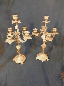 paire-de-chandelier-bronze-dore-style-louis-xv-rocaille-napoleon-III-candelabres