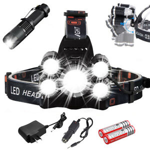 Super-bright-90000LM-5-X-XM-L-T6-LED-Headlamp-Headlight-Flashlight-Head-Torch
