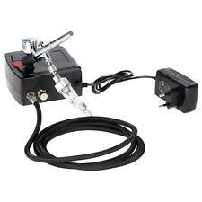 Portable Mini 100-250V Dual Action Gravity Feed Airbrush Air Compressor Kit J3C5