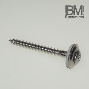 50 St 4,5X60 TORX Spenglerschrauben m.15er Scheibe A2