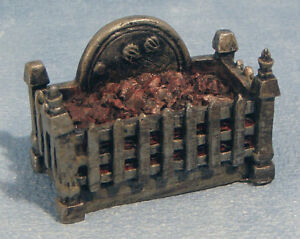 Melody Jane Dolls House Miniature Fireplace Knights Fire Grate Front /& Ash Pan
