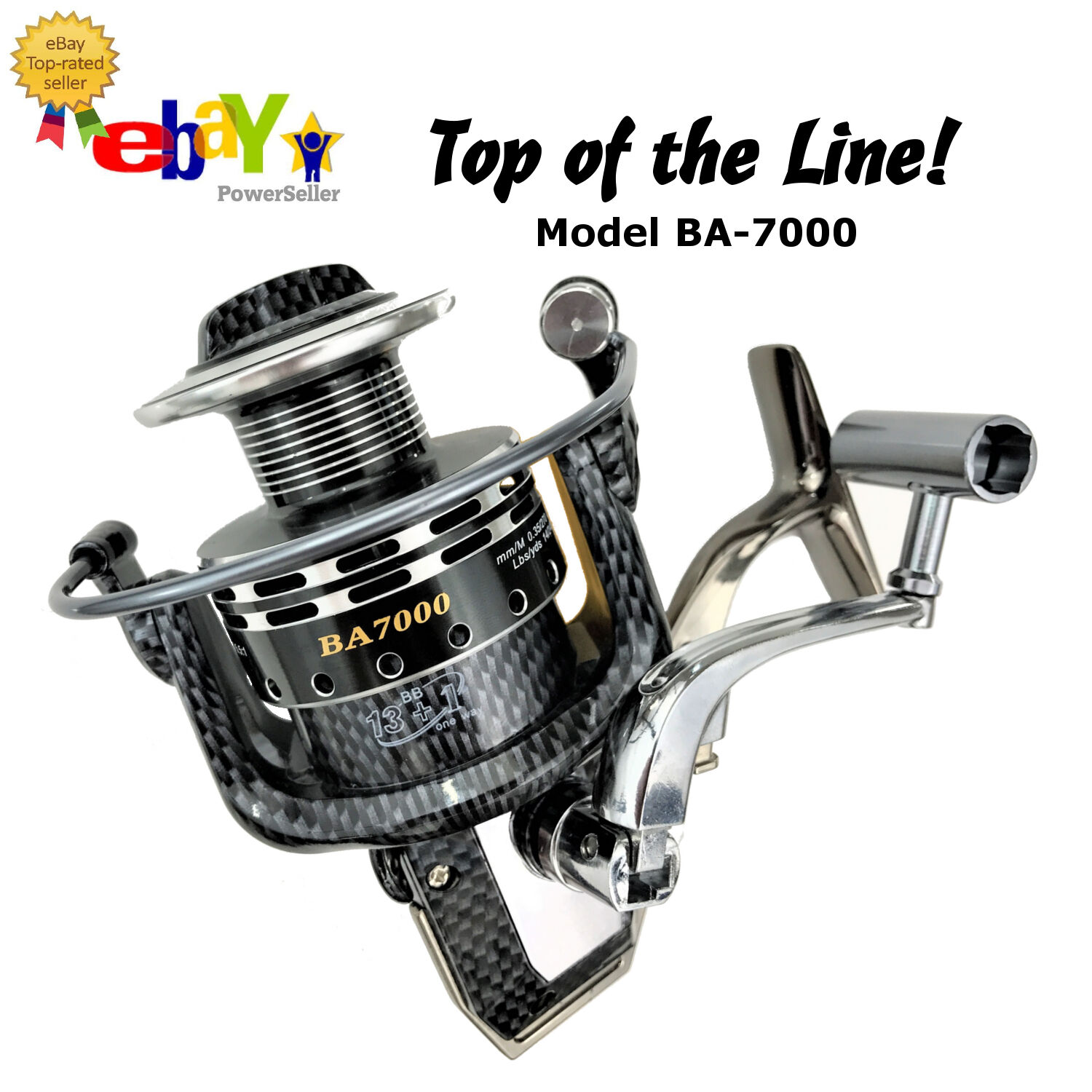 PREMIUM Spinning Fishing Reel 13+1 BB 4.7 1 Gear Ratio CNC Metal Spool Light Wei