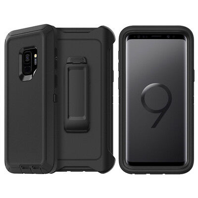 pretty nice 7fab8 012c7 Galaxy S9 Plus Case w/ Screen Protector Belt Clip Fits Otterbox ...