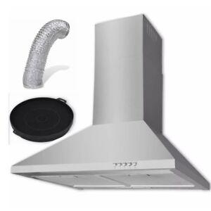 60cm Cappa Aspirante Cucina A Parete Acciaio Inox 550 M H Con