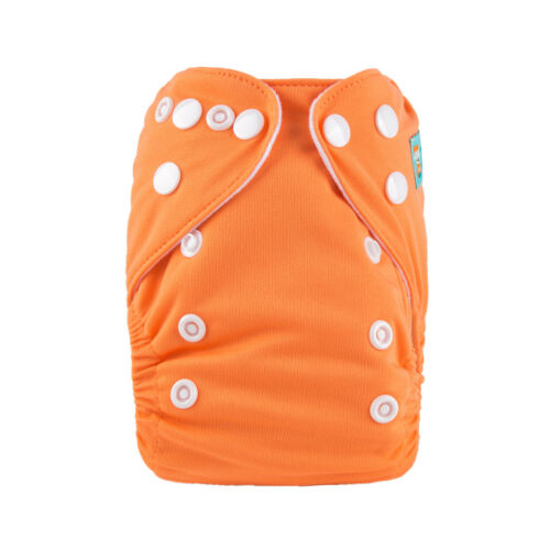 One Size Newborn Baby Snap Pure Cloth Diaper With one 3-layer Microfiber Insert