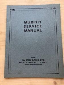murphy a482 radio service manual