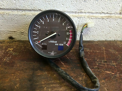 OEM tachometer from 1982 Suzuki GS650 motorcyle -as-is for parts