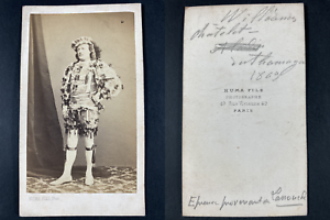 Numa, Paris, Williams, comédien au théâtre du Châtelet 1869 Vintage cdv albumen