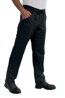Acquista A Buon Mercato Pantalone Con Elastico Isacco Nero Cuoco Chef 100% Poliestere Super Dry 130gr/mq