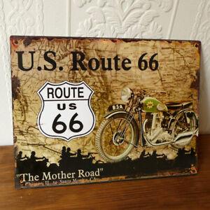 Harley Davidson Blechschild Metall Schild 40 cm Nostalgie Route 66