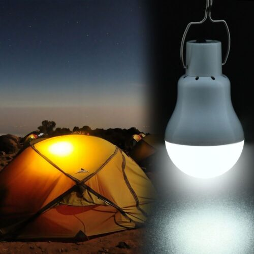 Solar Panel Powered LED Bulb Light Outdoor Camping Tent Energy Lamp Portable 15W