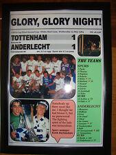 Tottenham Hotspur 1 Anderlecht 1 - 1984 UEFA Cup final - framed print