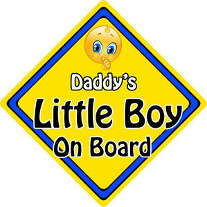 non personalised child baby on board emoji car sign daddy s little
