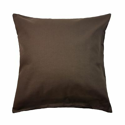 """45CM MAYBURY COTTON LOOK FEEL CHOCOLATE BROWN THICK CUSHION COVER 18/"""""""