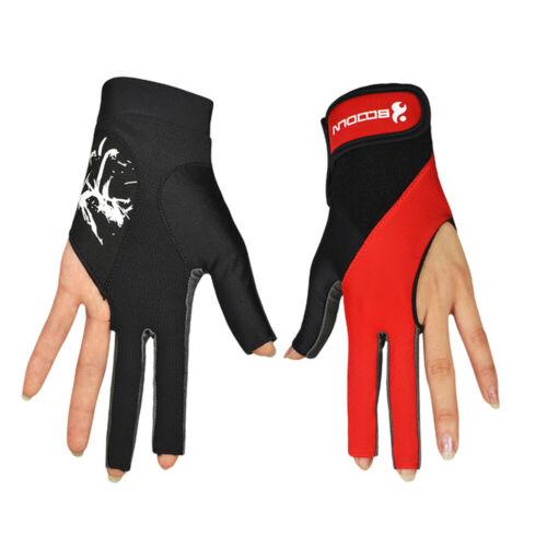 1 PCS Pool Cue Gloves Billiard Three Cut Gloves Left Hands Gloves Billiard S5I5