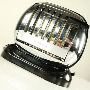 Streamline-Toaster-Maybaum-581-Bakelit-50er-Brotroester-Vintage-Flip-Turn-Over
