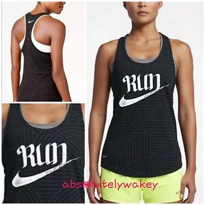 Nike Run Rum Printed Dri-FIT Vest Racerback Tank Top Women s ... 241d673dea9d