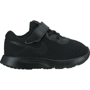 new arrival 39b0c 96663 Image is loading Nike-Tanjun-TDV-Black-Black-Toddler-Shoes-818383-