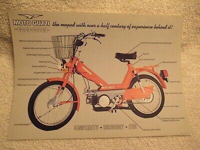 Moto Guzzi Robin Moped Brochure Ebay