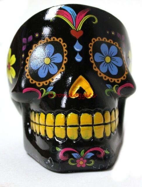Day of the Dead Dia De Los Muertos Black Sugar Skull Cigarette Ashtray