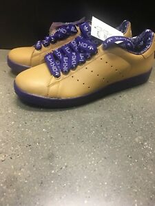 release date 1d9ff a17fa Image is loading Adidas-Mens-Stan-Smith-II-Gold-Purple-Size-