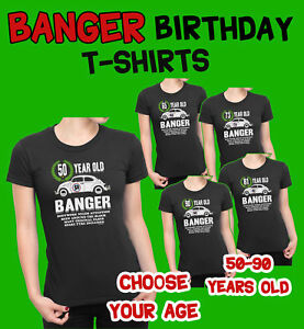 Image Is Loading LADIES 50th To 90th BIRTHDAY TShirts OLD BANGER