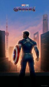New Avengers End Game Fabric Poster Chinese Captain America Movie X